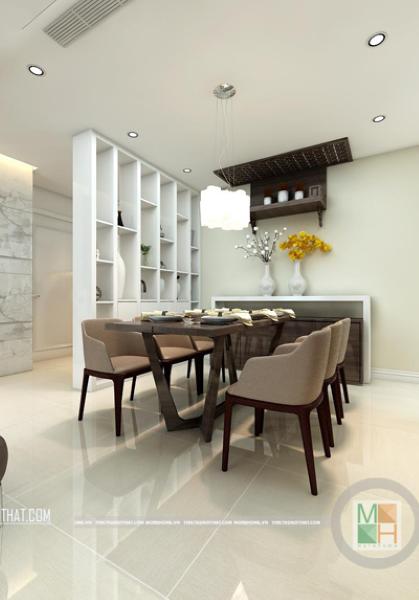 Thiết kế nội thất căn hộ chung cư GOLDEN PALACE - nhà Chị Vinh