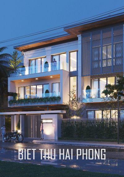 Thiết kế biệt thự 3 tầng hiện đại, đẹp, sang trọng tại Hải Phòng