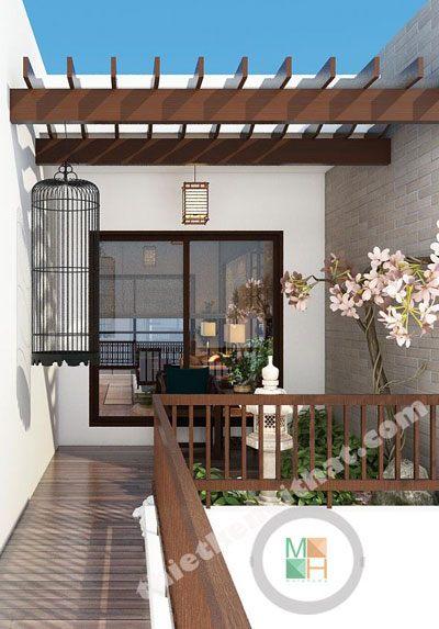 Thiết kế nội thất nhà phố phong cách Nhật Bản - Anh Minh