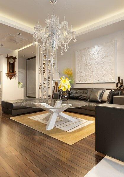 Thiết kế nội thất căn hộ chung cư cao cấp FLC hiện đại