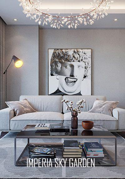 Thiết kế nội thất chung cư Imperia Sky Garden hiện đại, sang trọng