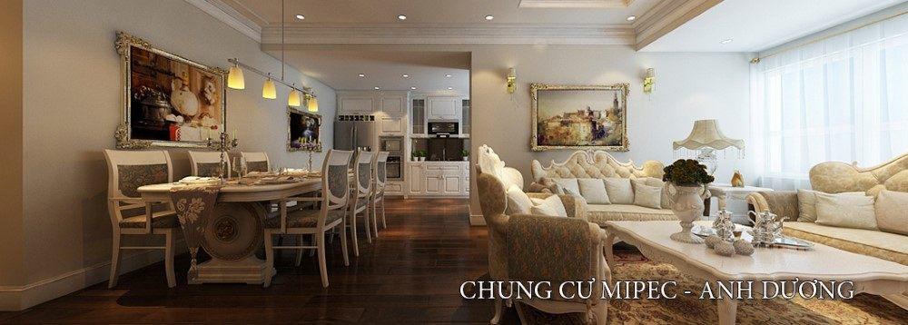 Thiết kế chung cư Mipec phong cách tân cổ điển - Nhà Anh Dương