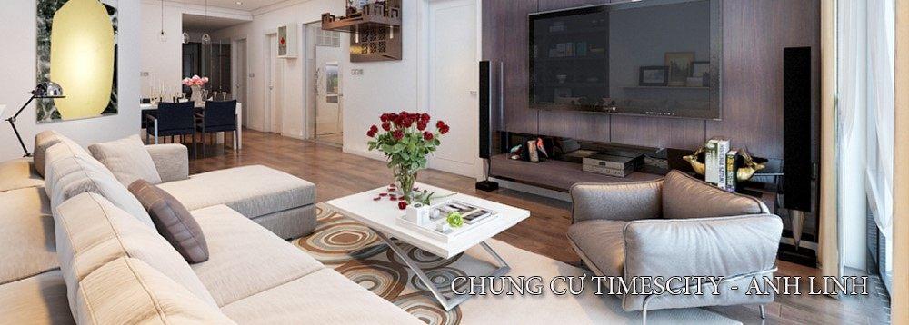 Thiết kế nội thất Timescity phong cách hiện đại tòa T2