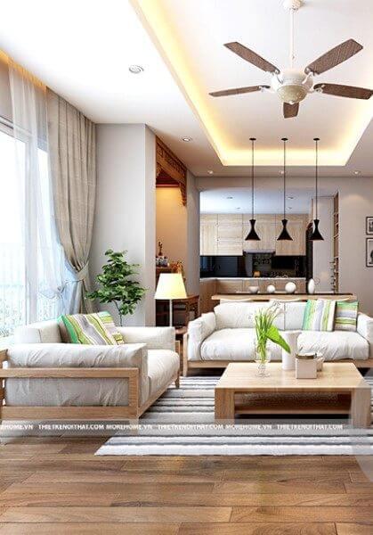 Thiết kế nội thất chung cư hiện đại N04 - Anh Bình