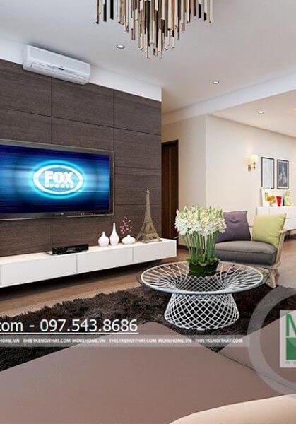 Thiết kế nội thất chung cư Mandarin Garden đậm phong cách hiện đại -Chị Thúy