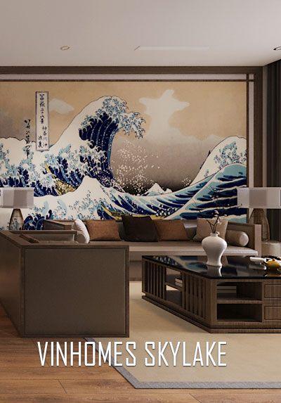 Thiết kế nội thất chung cư Vinhomes Skylake phong cách Nhật Bản đẹp