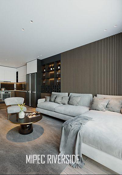 Thiết kế nội thất chung cư Mipec Riverside phong cách hiện đại sang trọng