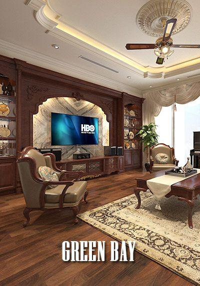 Thiết kế nội thất biệt thự Green Bay Mễ Trì