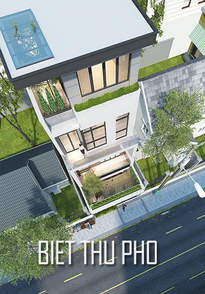 Thiết kế kiến trúc biệt thự phố Nghệ An không gian xanh hiện đại