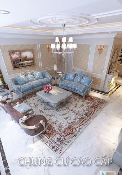 Thiết kế nội thất căn hộ chung cư cao cấp tại Hà Nội