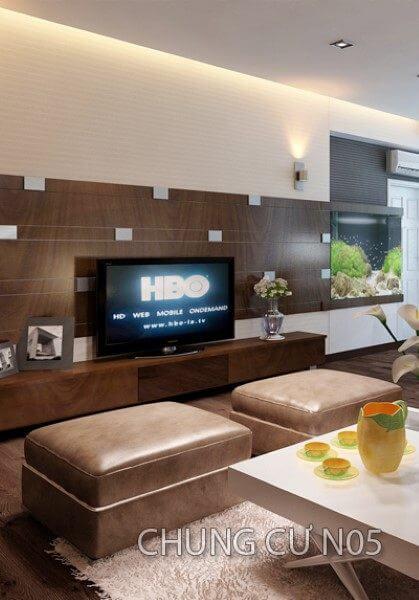Thiết kế nội thất căn hộ chung cư N05 hiện đại - Anh Đỗ