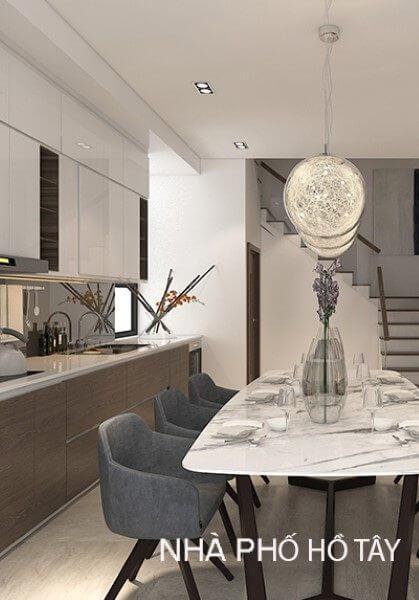 Thiết kế nội thất nhà phố hồ tây Hà Nội hiện đại, phong cách, đẹp