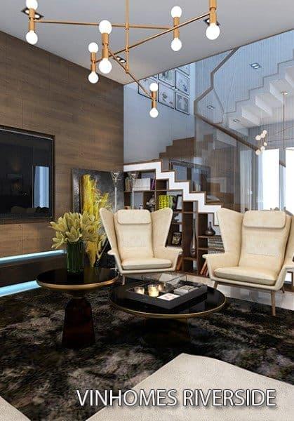 Thiết kế nội thất biệt thự song lập hiện đại tại Vinhomes Riverside - chị Bình đậm phong cách Italia