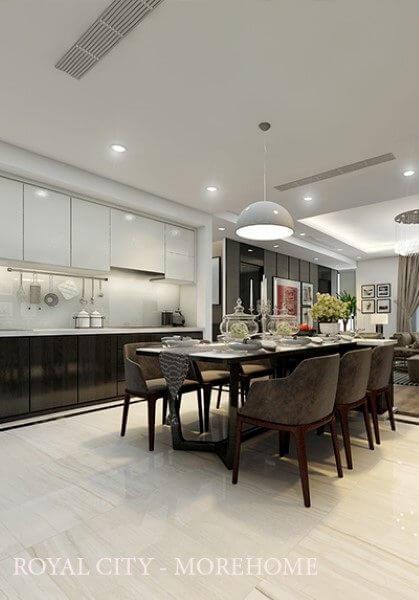 Thiết kế nội thất chung cư hiện đại tại ROYAL CITY - Anh Nguyên