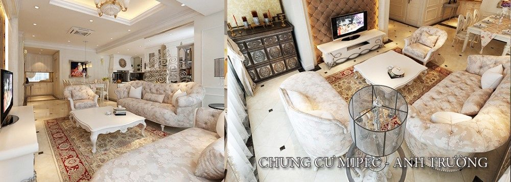 Thiết kế nội thất tân cổ điển tại chung cư Mipec