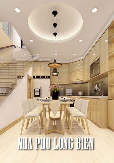 Thiết kế nội thất nhà phố Long Biên màu sắc trẻ trung, hiện đại