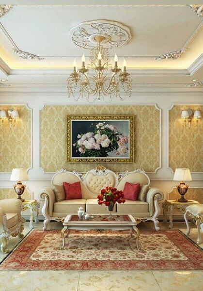 Thiết kế nội thất chung cư tân cổ điển tại chung cư Mandarin Garden - Chị Huệ