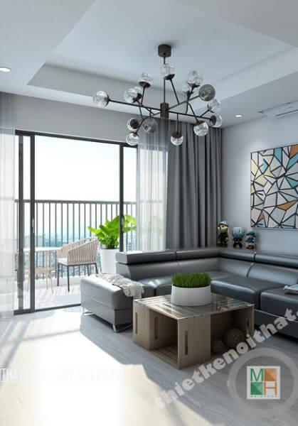 Thiết kế nội thất căn hộ chung cư N04 cao cấp phong cách hiện đại