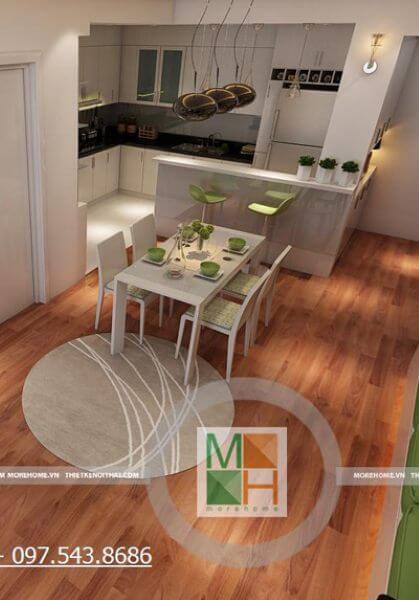 Thiết kế nội thất căn hộ chung cư hiện đại trẻ trung tại MIPEC