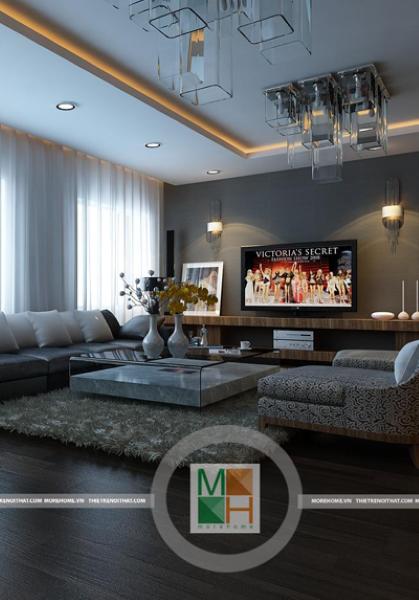 Thiết kế nội thất chung cư hiện đại Mipec - Anh Cường