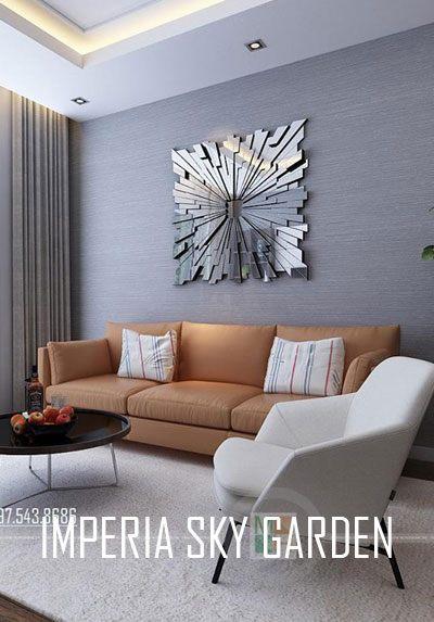Thiết kế và thi công nội thất căn hộ mẫu Imperia Sky Garden 74m2