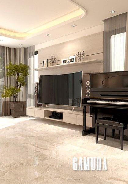Thiết kế nội thất biệt thự đơn lập 2 tầng hiện đại Gamuda Anh Dũng