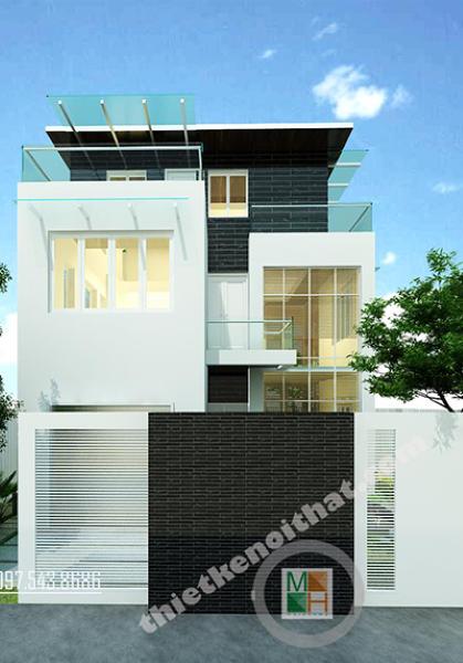Thiết kế biệt thự hiện đại tại Văn Khê Hà Đông - Chị Vân