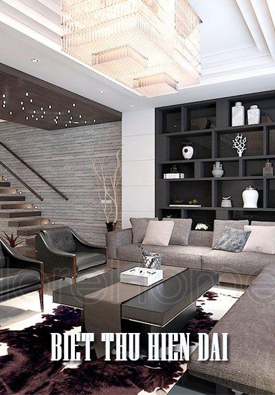 Thiết kế kiến trúc, nội thất biệt thự hiện đại tai TP Vinh - Chị Thủy