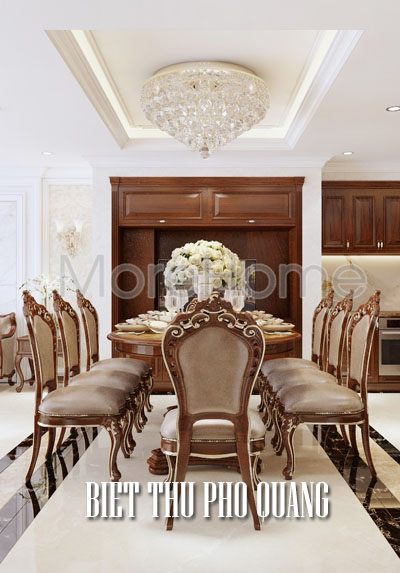Thiết kế nội thất biệt thự Phổ Quang nội thất tân cổ điển