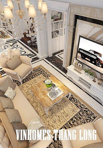 Thiết kế nội thất biệt thự Vinhomes Thăng Long tân cổ điển sang trọng - Anh Hưng