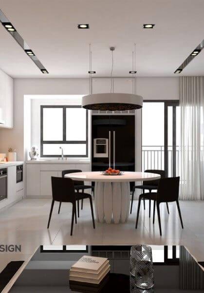 Thiết kế nội thất căn hộ chung cư hiện đại đẹp Giảng Võ Hà Nội