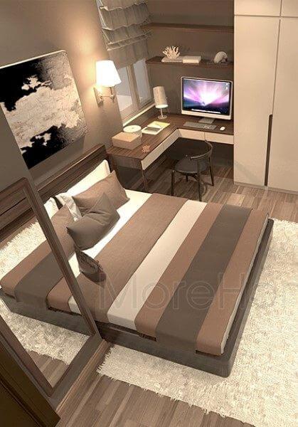 Thiết kế nội thất chung cư Home City Trung Kính - chị Then