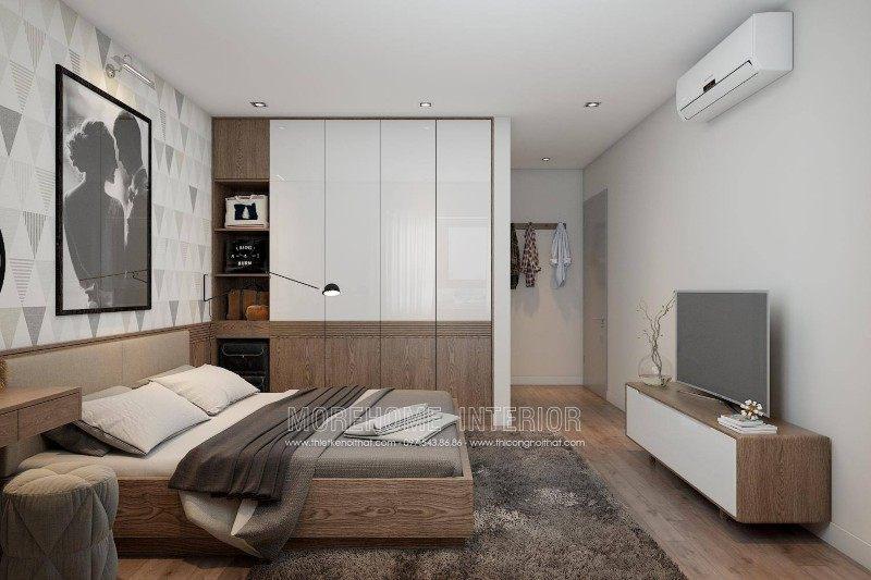 Thiết kế nội thất phòng ngủ cho chung cư k35 tân mai hoàng mai hà nội