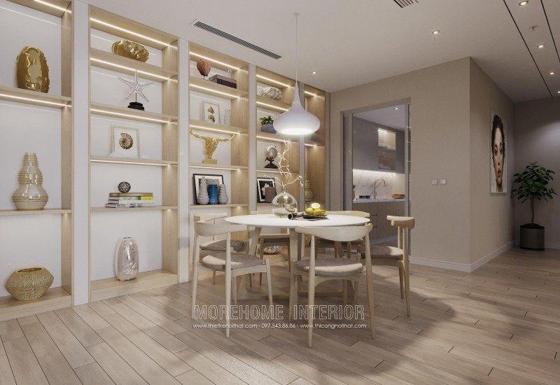 Thiết kế nội thất phòng ăn chung cư mandarin garden cầu giấy hà nội