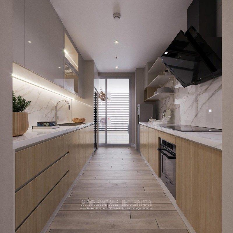 Thiết kế nhà bếp cho chung cư mandarin garden cầu giấy hà nội