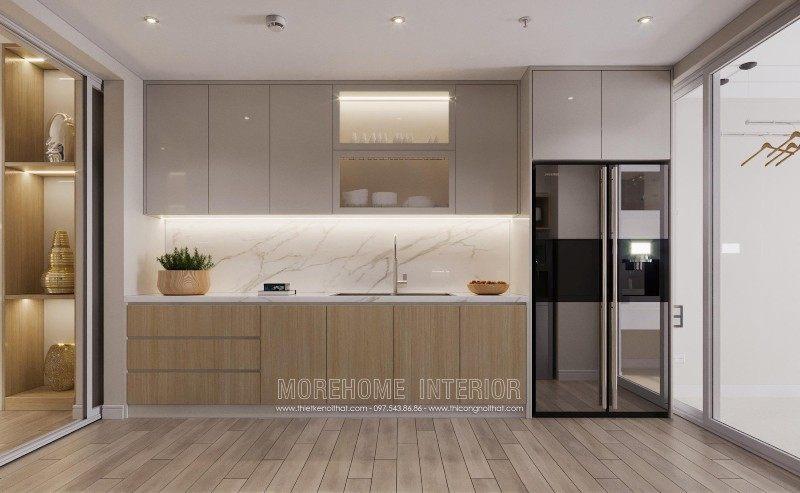 Tủ bếp hiện đại cho chung cư mandarin garden cầu giấy hà nội