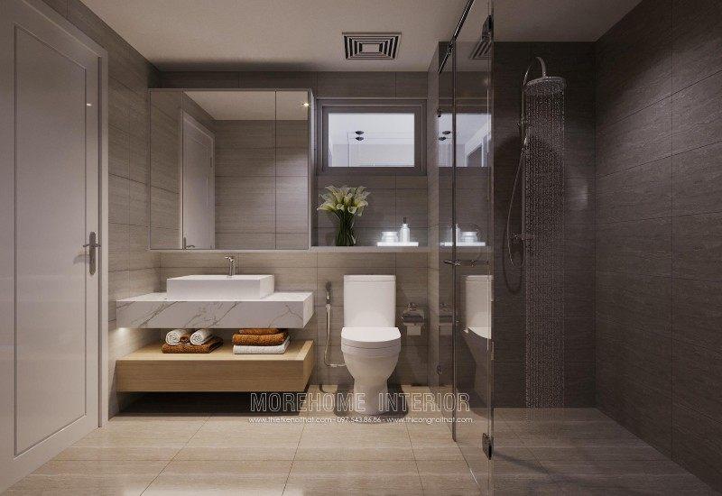 Thiết kế nhà tắm phòng vệ sinh chung cư mandarin garden cầu giấy hà nội