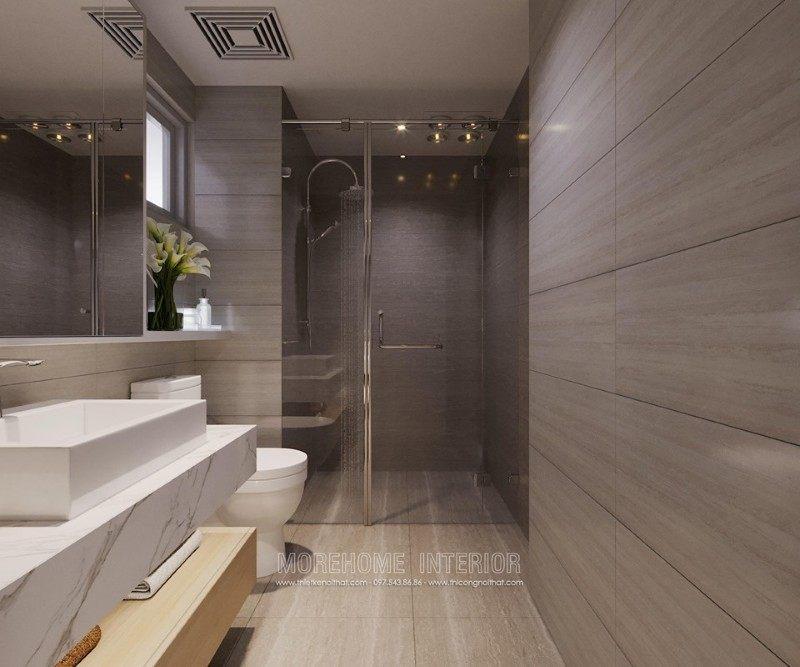 Thiết kế phòng tắm nhà vệ sinh chung cư mandarin garden cầu giấy hà nội