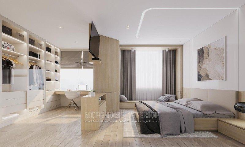 Thiết kế nội thất phòng ngủ chung cư mandarin garden cầu giấy hà nội
