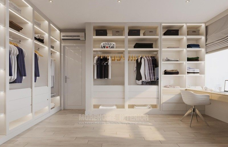 Tủ áo hiện đại cho chung cư mandarin garden cầu giấy hà nội