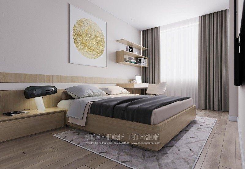 Giường ngủ hiện đại cho chung cư mandarin garden cầu giấy hà nội