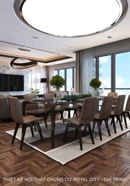 Thiết kế nội thất căn hộ chung cư Royal City - chị Trinh đẳng cấp với 3 phòng ngủ