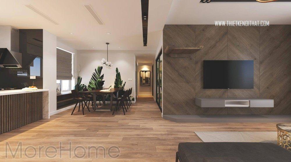 Thiết kế nội thất chung cư season avenue 3 phòng ngủ tại Mỗ Lao Hà Đông
