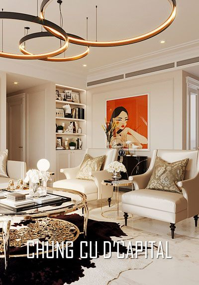 Thiết kế nội thất chung cư cao cấp D'Capitale tân cổ điển sang trọng