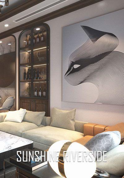 Thiết kế nội thất chung cư Sunshine Riverside hiện đại, đẹp, sang