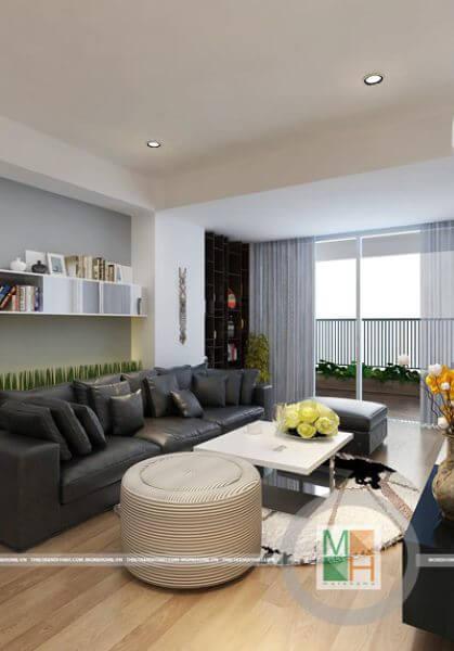 Thiết kế nội thất chung cư hiện đại, không gian mở  Mipec - anh Minh