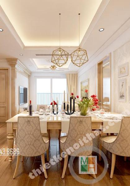 Thiết kế nội thất căn hộ chung cư Golden Palace phong cách tân cổ điển