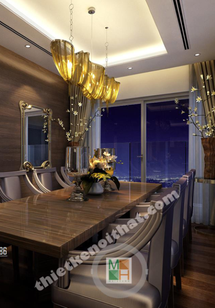 Thiết kế nội thất căn hộ chung cư Golden Westlake - Chị Phương