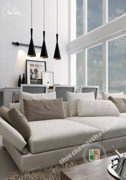 Thiết kế nội thất căn hộ chung cư Penthouse Phú Hoàng Anh - Nhà Bè - Hồ Chí Minh