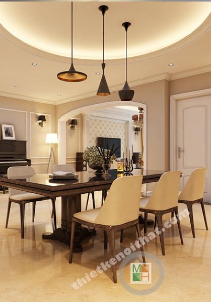 Thiết kế nội thất căn hộ chung cư cao cấp  Mandarin Garden căn 2807C2